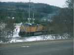 UP 6048 MVPPR pulls a string of cars out of Hendricks Pass In Altoona